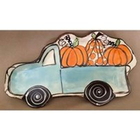 Small Truck Shape with Pumpkins
