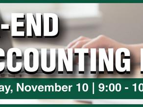 Year-End Accounting Prep - Zoom Seminar