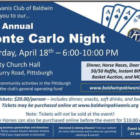 46th Annual Monte Carlo Night- The Kiwanis Club of Baldwin