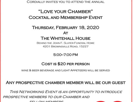 """""""Love Your Chamber"""" Cocktail & Membership Event"""