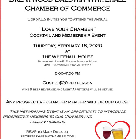 """Love Your Chamber"" Cocktail & Membership Event"