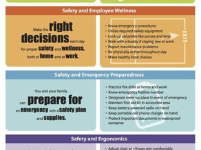 June Safety Topic - National Safety Month
