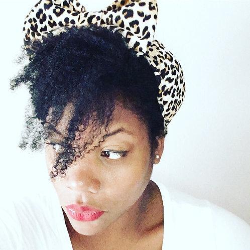 Cheetah Bow Turban