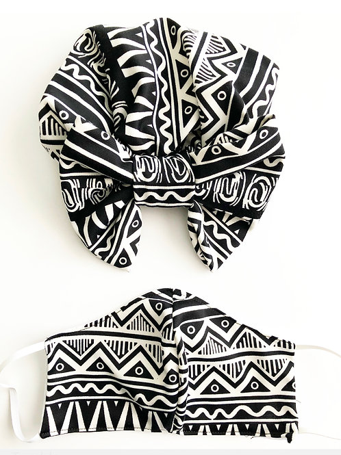 Printed Mask & Turban