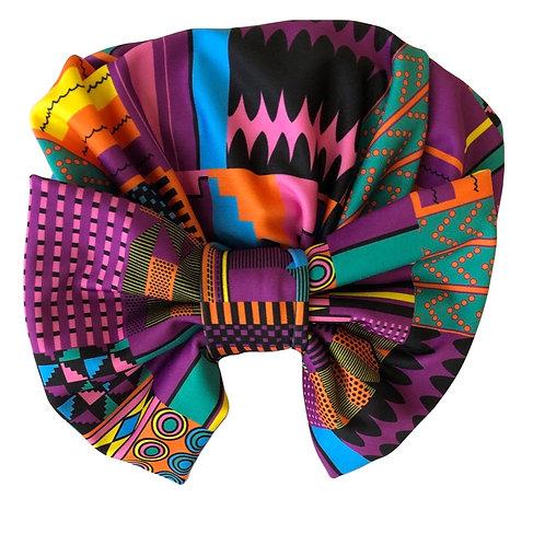 African Print Turban & Mask
