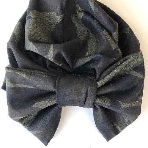 Black Fatigue Turban & Mask