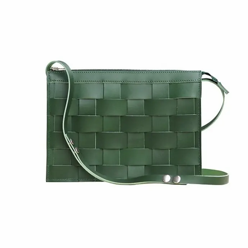 NÄVER SMALL SHOULDER BAG IN GREEN LEATHER