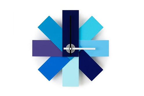 Watch Me Wall Clock Blue