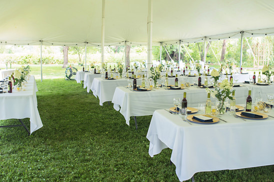 Outdoor Wedding Reception Tables