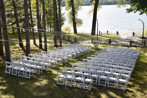 Outdoor Lake Wedding Ceremony