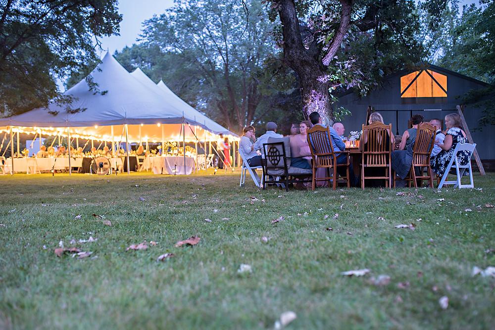 Wedding Reception tent in WI
