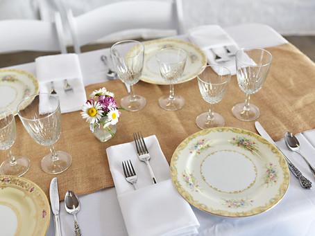 Rustic Vintage Wedding Dinnerware