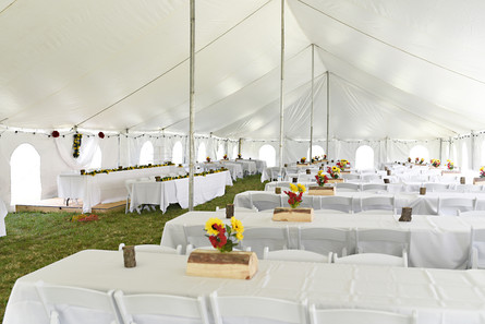 Tables and Chairs under a Tent