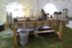 Self-Serve Beverage Station at a Wedding Reception