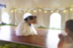 Portable Wedding Dance Floor Under a Tent