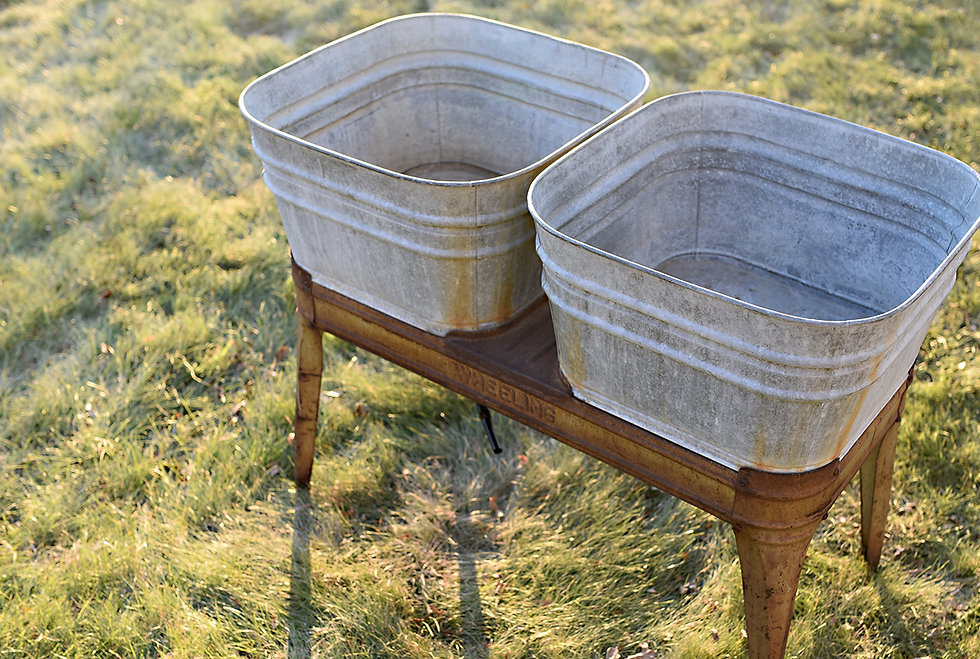Vintage Wash Tubs Wheeling