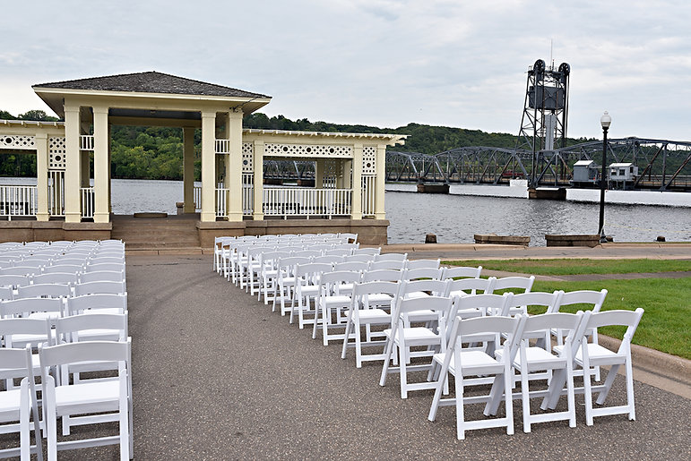 Ceremony in Lowell Park, Stillwater, MN