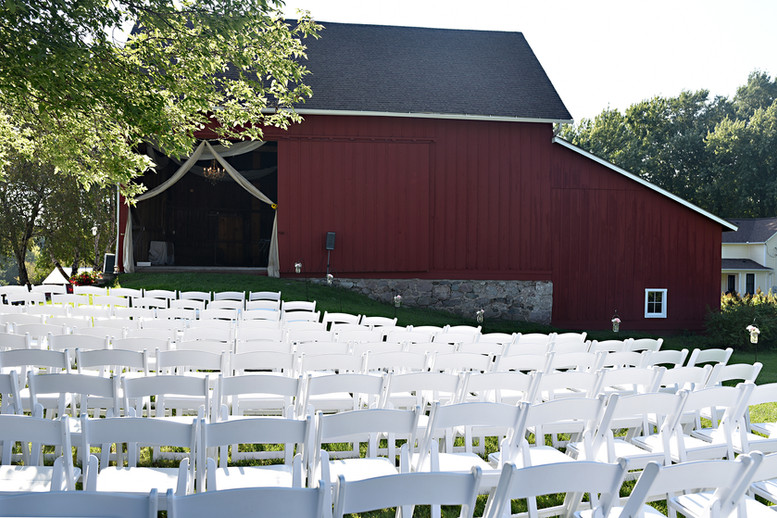 Outdoor Barn Wedding Ceremony