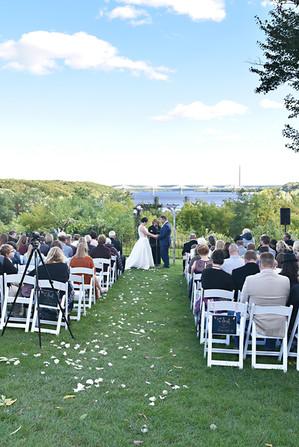 Wedding Ceremony Pioneer Park, Stillwater, MN