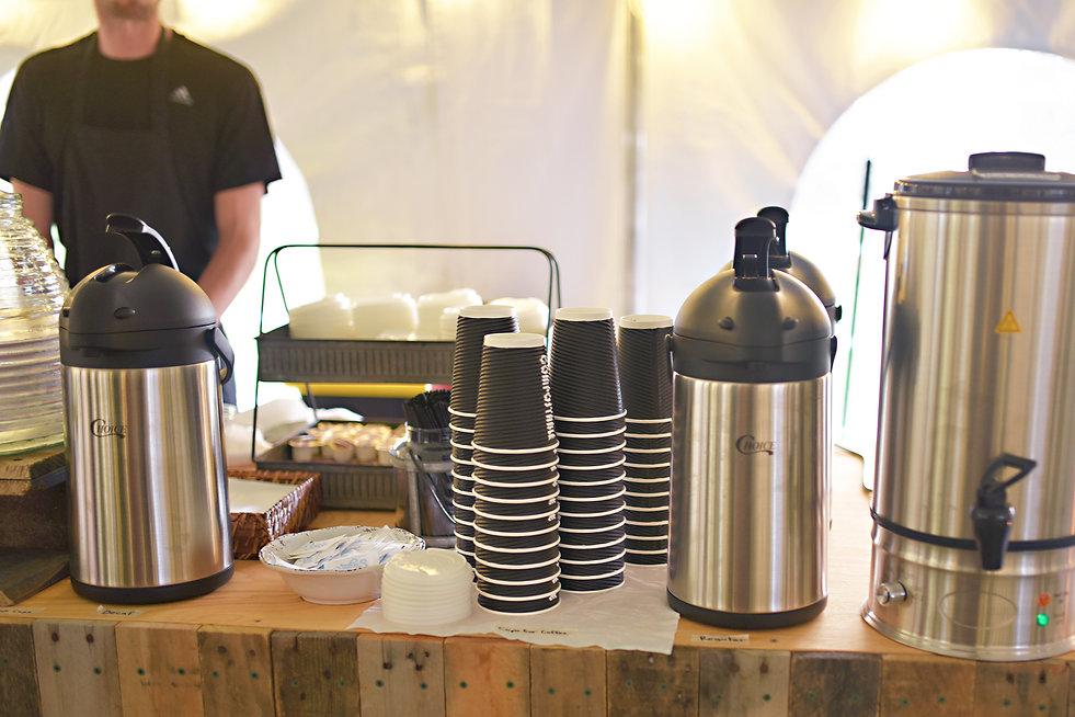 Coffee bar display at a Wedding Reception