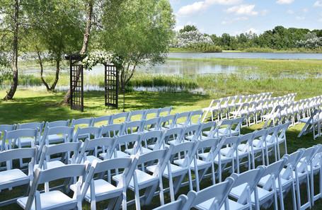 White Resin Wedding Chairs