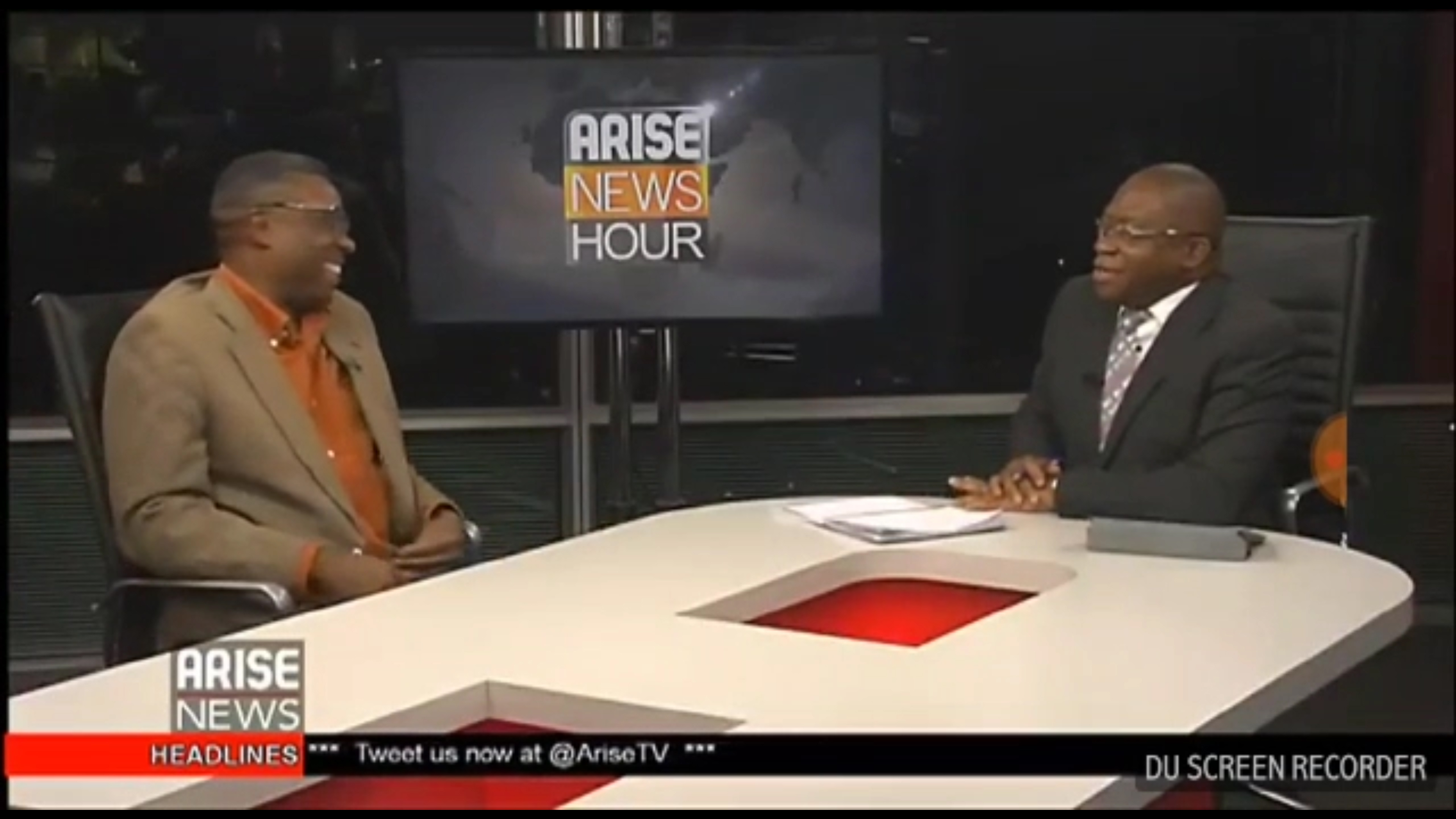 Chuba Obi at Arise TV Studios