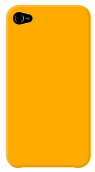 Tampa do iPhone amarelo
