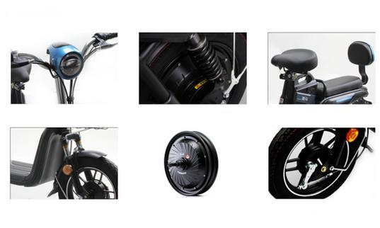 JL E MOTORCYCLE-14inch Clear margin 48V(
