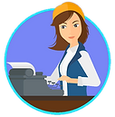 SITE LOGO - WOMAN AT TYPEWRITER