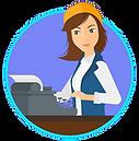 SITE LOGO - WOMAN AT TYPEWRITER