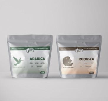 Etiquettes de Brave Cafe (Arabica & Robusta)