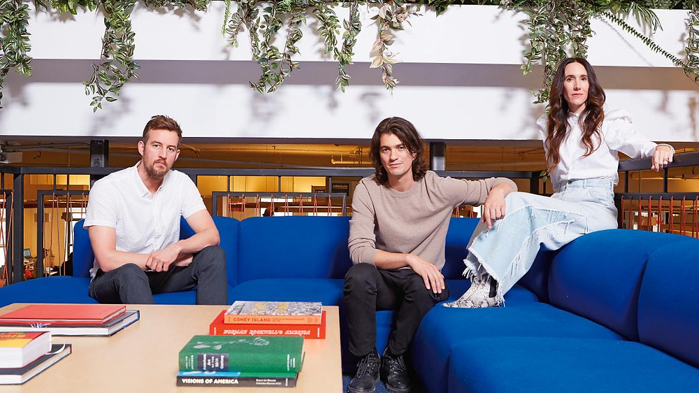 Founders of WeWork- Adam, Miguel and Rebekah Neumann