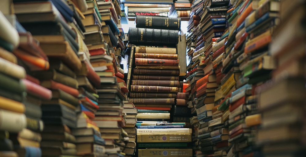2021 list of latest books: pile of books