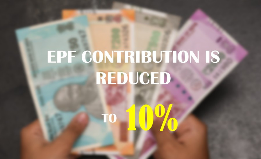 Illustration of reduced EPF contribution increased in hand salary