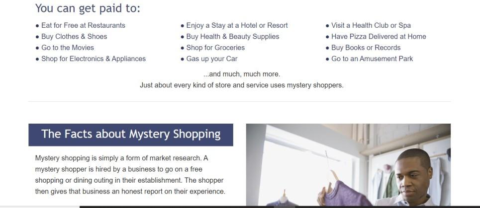 screenshot taken on mysteryshoppingonline.com