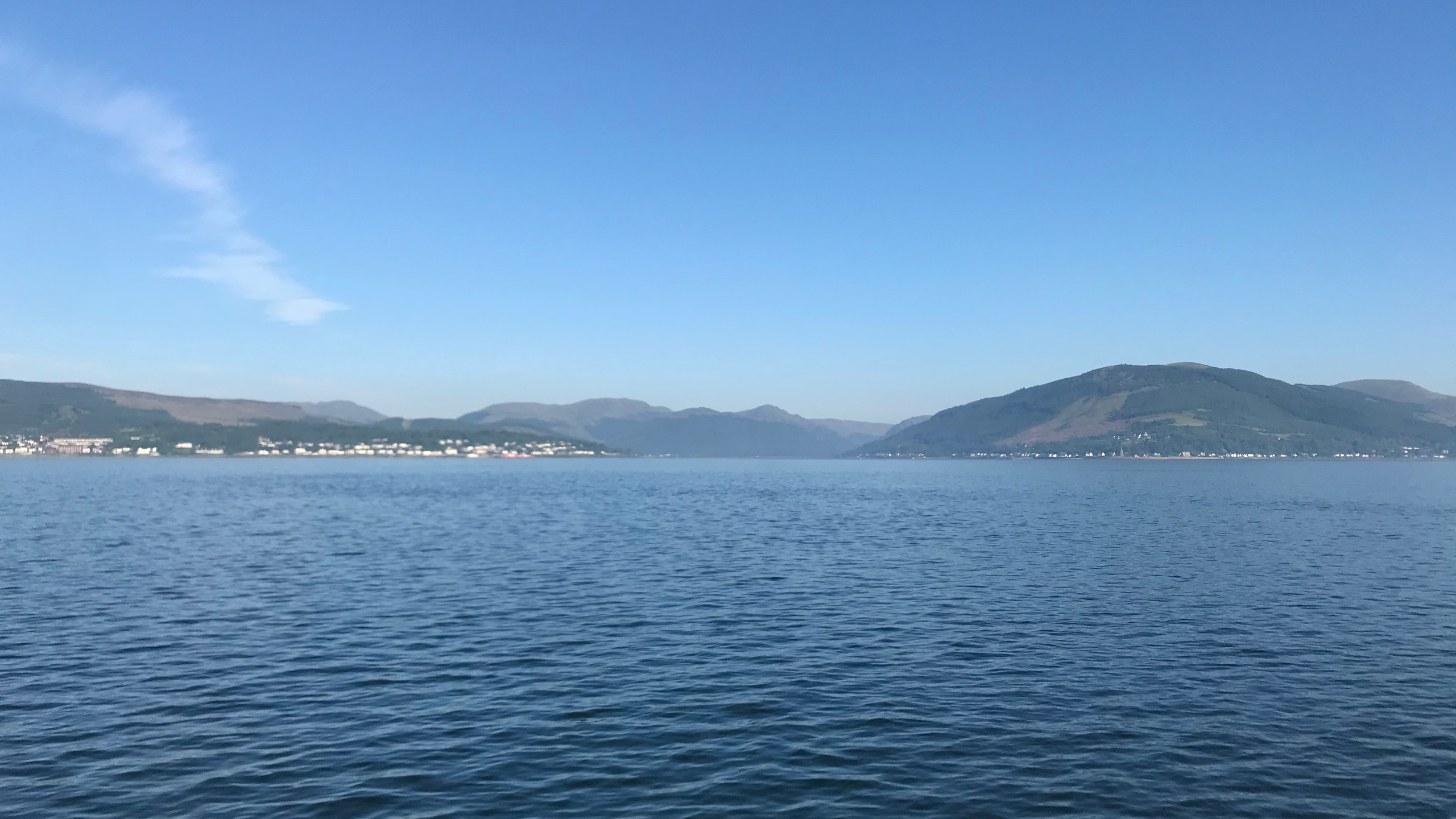 Crossing the Clyde to Dunoon