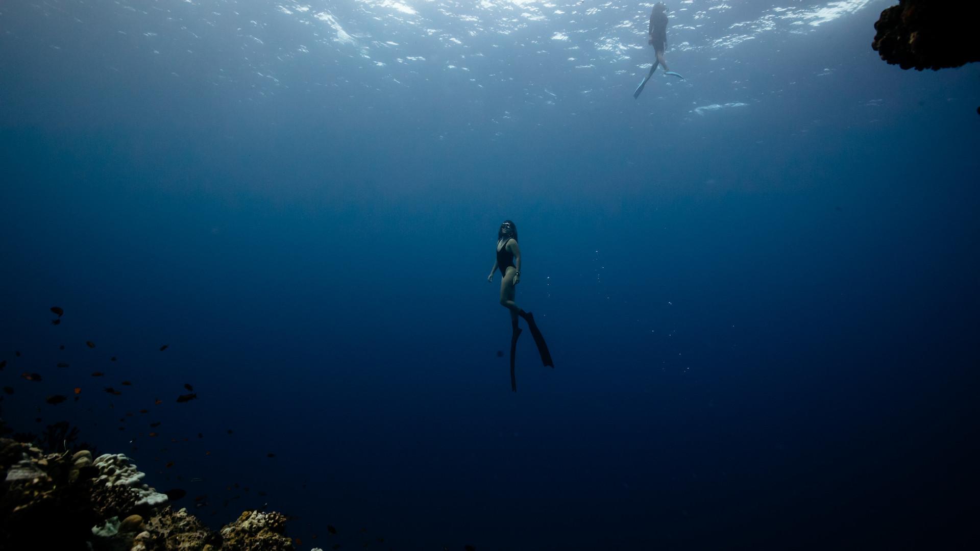 Freediving shoot with Matt Porteous