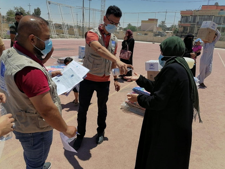 What does Mercy Hands do for refugees in Iraq?