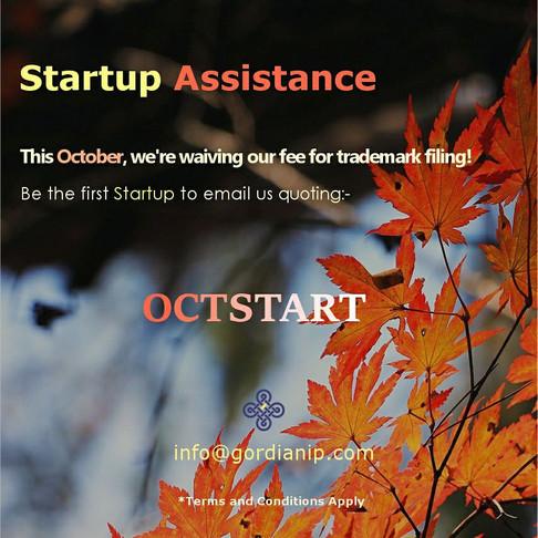 October Startup Assistance