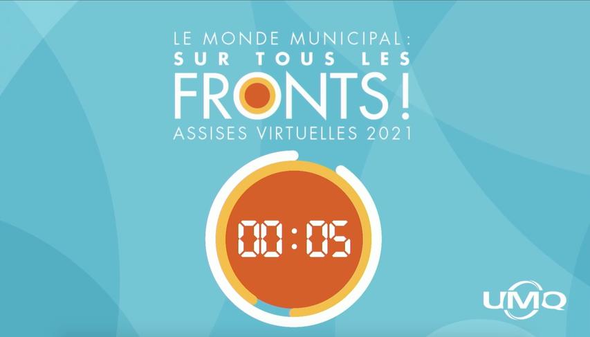 Marie-Ève D'amour a réalisé deux facilitations graphiques en direct à l'occasion des Assises annuelles 2021 de l'UMQ.