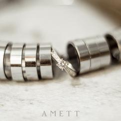 Anillo de compromiso oro blanco con diamantes