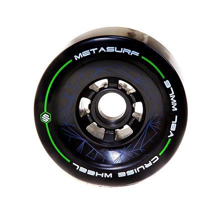 Metasurf 97mm電動滑板巡弋輪-科技黑