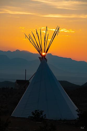 Teepee Terlingua Sunrise