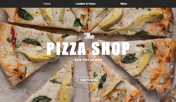 Restaurant website templates – Pizzarestaurant