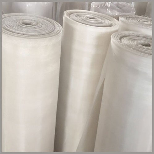 50 Micron Nylon Mesh Filter Woven Mesh Sheet Off-White Polyester Food G