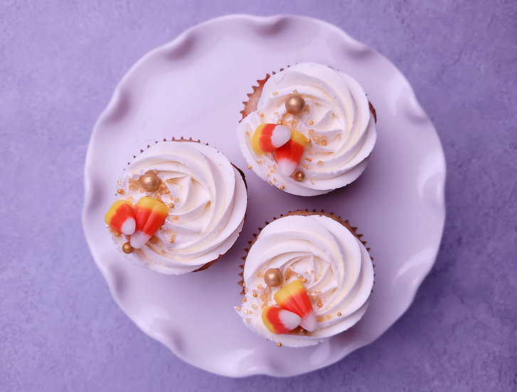 Candy Corn Confetti Cupcakes- half or full dozen