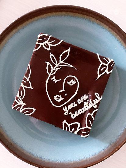 """Inscription Brownie 4"""" x 4"""""""