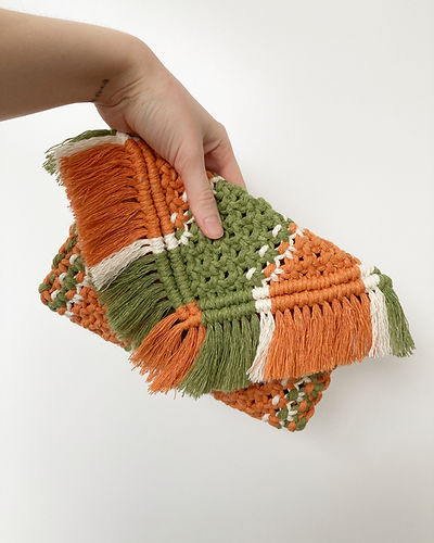 Orange and Green Clutch Purse.JPG
