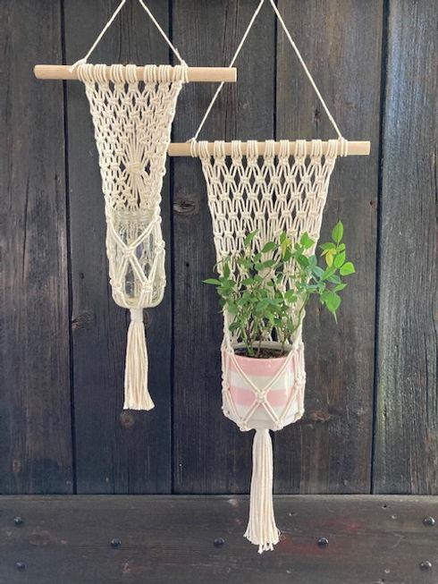 Flat Pocket Plant Hanger- SmallandLarge.