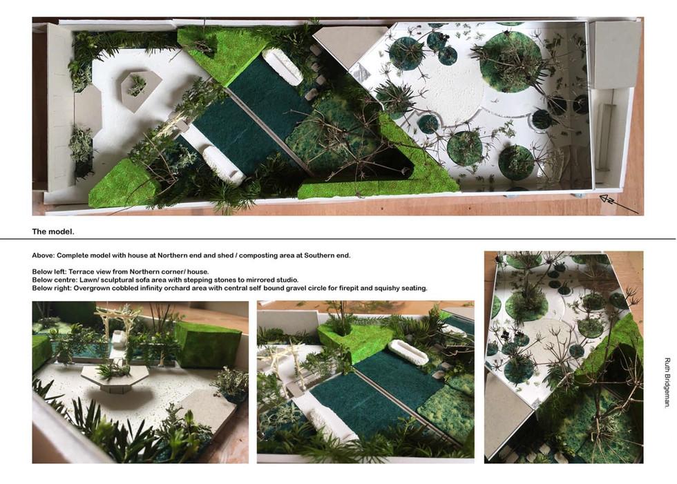 The writers garden. Model 2. Ruth bridge
